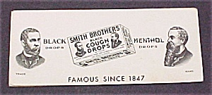 Ink Blotter Smith Brothers Cough Drops Advertising