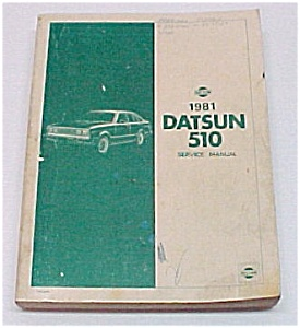 1981 Datsun 510 Service Manual Nissan Book Transportation border=
