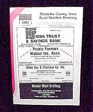 1982 Mahaska County Iowa IA Rural Resident Directory (Image1)