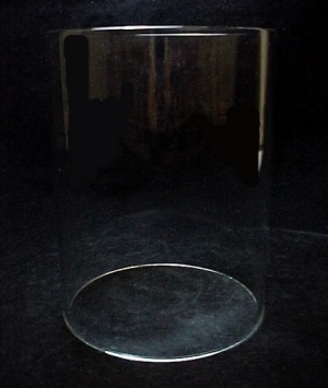 Cylinder 3 3/4 X 5 in Tube Light Lamp Shade Glass Candle Holder  (Image1)