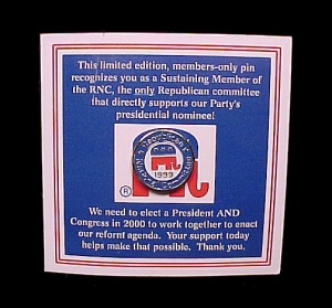 1999 Rnc Republican National Committee Presidential Campaign Political