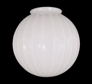 Ribbed Ball Milk Glass Light Shade Globe 4 7/8 X 10 X 10 Pendant (Image1)