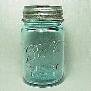 Ball Perfect Mason Blue Pt Canning Jar Nice Zinc Lid Pint