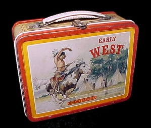 Early West Lunchbox Buffalo Bill Hickok Indian Brave (Image1)