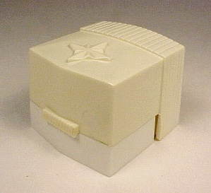 Vintage Art Deco Ring Box Gift Display Case Plastic White Ivory