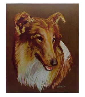 Collie Dog Lassie Art Print Vintage Old 6 X 8 Calendar Picture