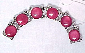 Junk Jewelry Cherry Red Lucite Moonglow Plastic Disks (Image1)