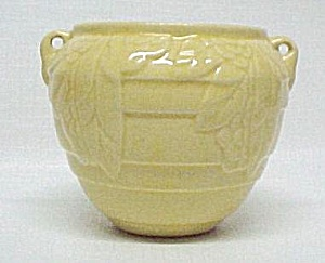 Monmouth Pottery Yellow Hanging Flower Pot Vase Planter (Image1)