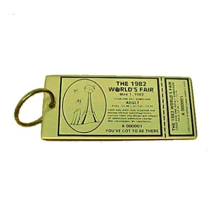 1982 World's Fair Key Chain Knoxville Tn Tennessee
