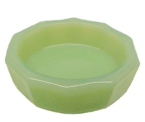 Milk Green Jadite Glass OVAL Open Salt Dip Cellar Dish (Image1)