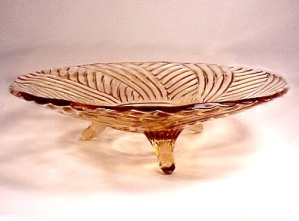 Hocking Pink Depression Glass Footed 10 In Bowl Vintage