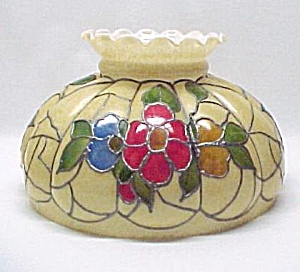 Hand Painted Glass Hanging Light Lamp SHADE Vintage Oil (Image1)
