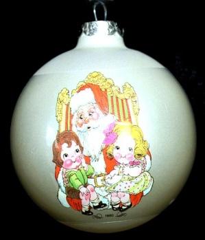 Campbell Kids Christmas Ornament 1980 Vintage Santa (Image1)