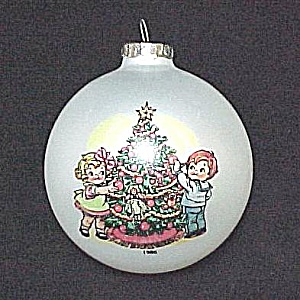 Campbell Soup Kids Christmas Tree Ball Ornament 1986 Vintage (Image1)