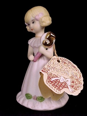 Enesco 1981 Growing Up Birthday Girl 5 Figurine