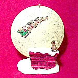 Hallmark 1997 Happy Christmas To All Tree Ornament Nib (Image1)