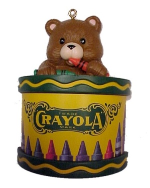 Christmas Ornament Crayola Teddy Bear 1992 Special Ed (Image1)