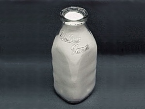 Willow Farm Clear Quart Milk Bottle LaGrange Illinois (Image1)