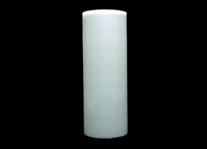 Milk Glass White Cylinder Tube 3 X 8 Mid Century Modern Wall Sconce