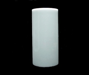 Milk Glass White Cylinder Tube 4 X8 Mid Century Modern Wall Sconce New