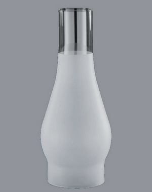 Frosted Glass Lamp Chimney Big Store 4 X 12 In Fits Central Draft Rayo