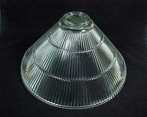 Clear Glass Cone Pendant Light Shade 3 1/4 X 7 1/2 X 15 in Prismatic  (Image1)