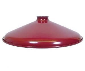 Red Porcelain Enamel Industrial Style Cone Shade for Pendant Light (Image1)