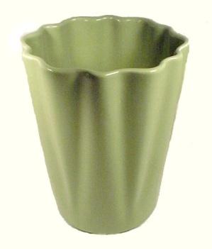 Alamo Pottery Green Art Deco Geometric Vase Vintage (Image1)