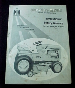 Ih International Harvester Rotary Mower Tractor Manual Operators