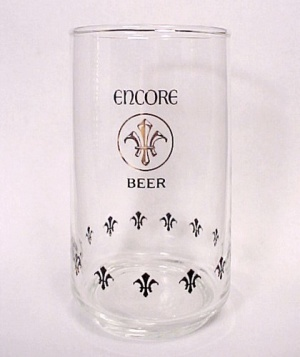 Vintage Encore Beer Schlitz Advertising Barware Glass (Image1)