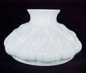 White Aladdin Artichoke Kerosene Oil Lamp Shade 10 in Glass Student (Image1)