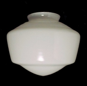 Light Shade Schoolhouse White Glass 4 X 7 X 8.25 Ceiling Fan Pendant