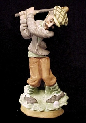 Lefton China Golf Golfer Golfing Man Figurine # 6651 Vintage (Image1)