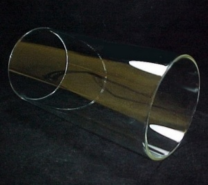 Cylinder 4 3/4 in X 9 3/4 in Tube Glass Light Lamp Shade Candle Holder (Image1)