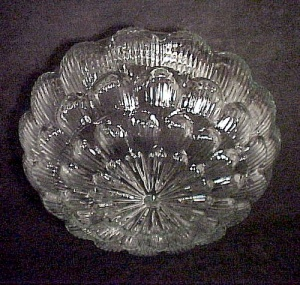 Clear Glass Pan Light Shade 6 7/8 in Floral Star Burst  (Image1)