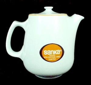 Restaurant Ware Sanka Coffee Pot Advertising Hall China (Image1)