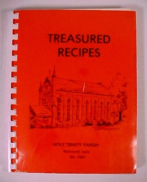 Holy Trinity Parish Richmond Iowa Ia Church Cookbook