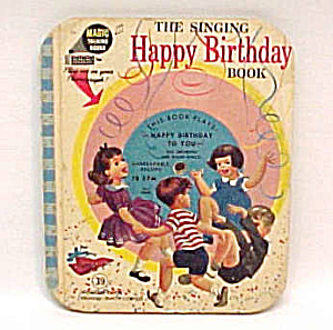 1955 Magic Singing Happy Birthday Book Music 78 Record