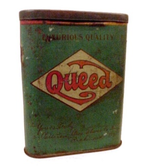 Queed Pipe Cigarette Tobacco Pocket Tin Patterson Bros Vintage