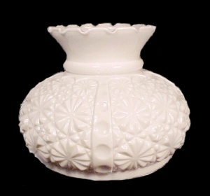 Milk Glass Lamp Shade Daisy Button 7 In Student Desk Table Chandelier