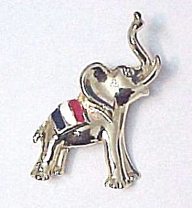 BJ Elephant Pin Republican Political Party Enameled (Image1)