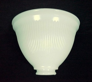 Milk Glass Stiffel Table Reflector Floor Lamp Shade 8 In Ribbed White