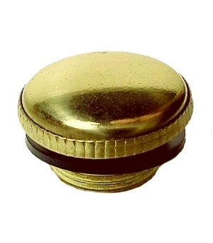 Solid Brass Aladdin Kerosene Oil Lamp Filler Plug w/ Sealing Gasket Ne (Image1)
