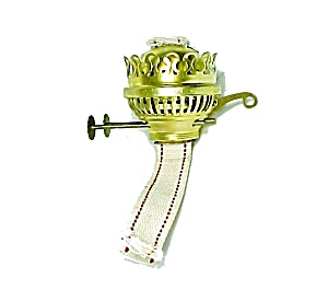 English Duplex Solid Brass Burner for Kerosene Oil Lamp with Wick New (Image1)