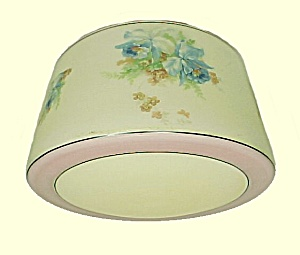 Floral Schoolhouse Light Lamp Shade Glass Ceiling Fan Flush Mount (Image1)
