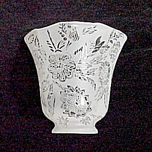 Frosted Clear Glass Floral 2 1/4 Bell Light Lamp Shade (Image1)