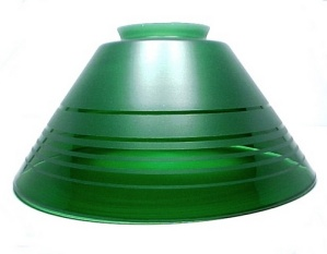 Pendant Light Shade Green Vianne Glass Cone 3 1/4 X 10 Hanging Sconce (Image1)