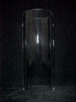 Light Lamp Shade Tube Cylinder Candle Holder 2 X 5 Clear Glass Wall Sc (Image1)