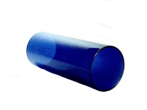Cylinder 3 X 7 in Tube Light Shade Cobalt Blue Glass Wall Sconce (Image1)