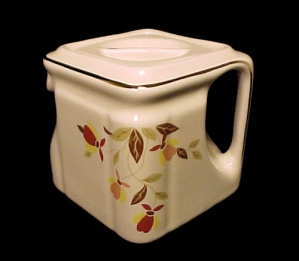 Hall China Autumn Leaf CUBE Teapot Jewel Tea 1 Cup Pot (Image1)